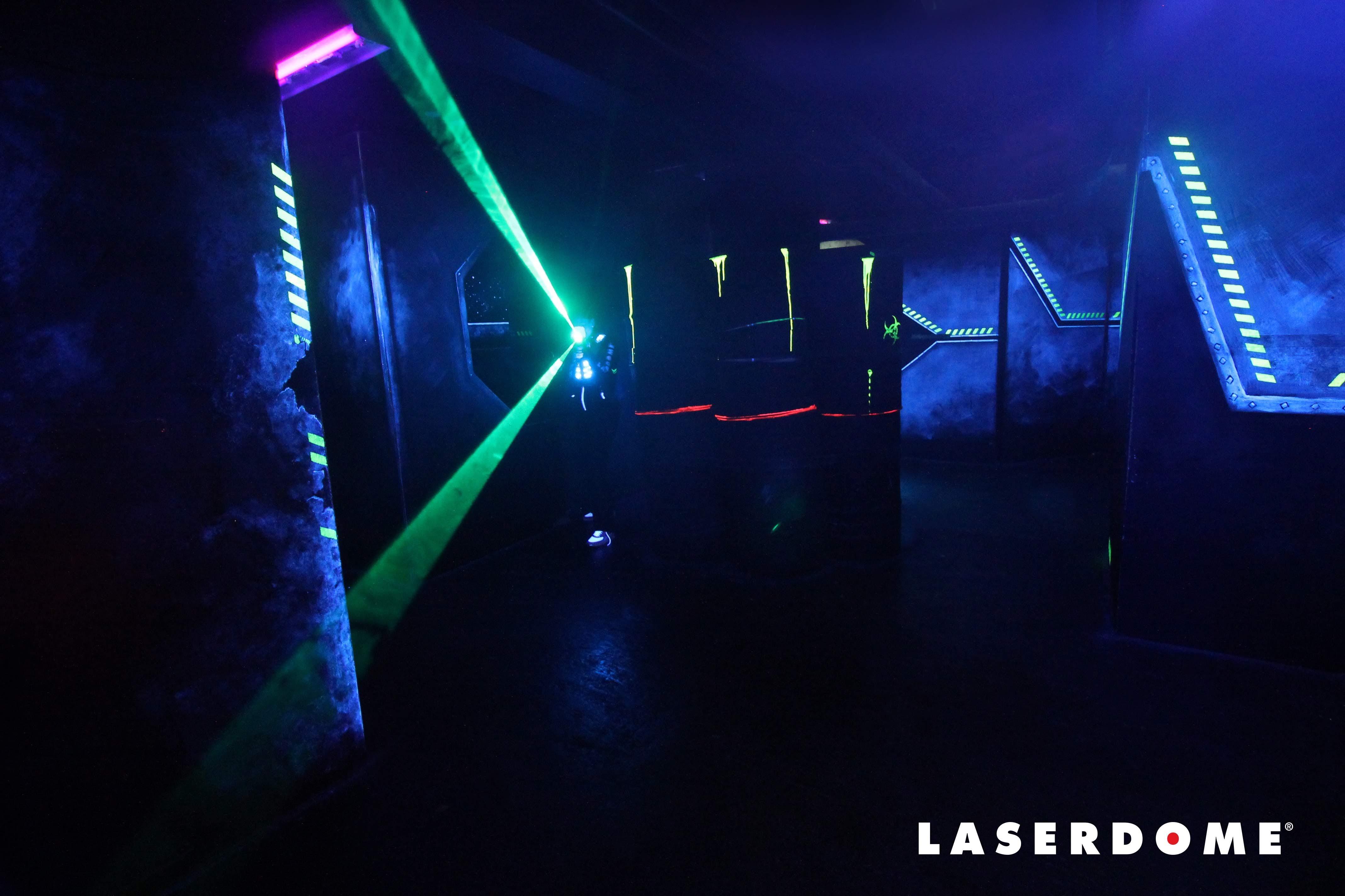 Spännande lagspel på Laserdome