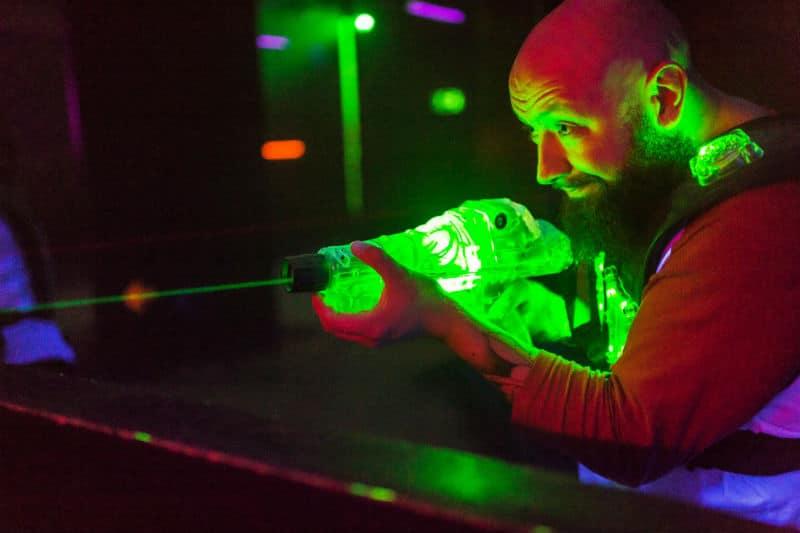 Spelare på Laserdome göteborg
